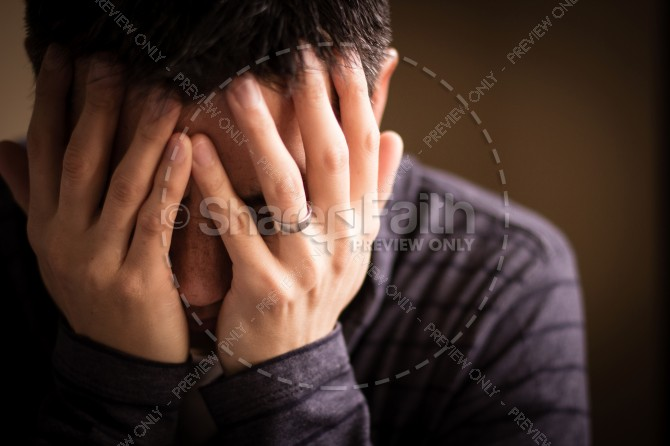 Distress Christian Stock Photo