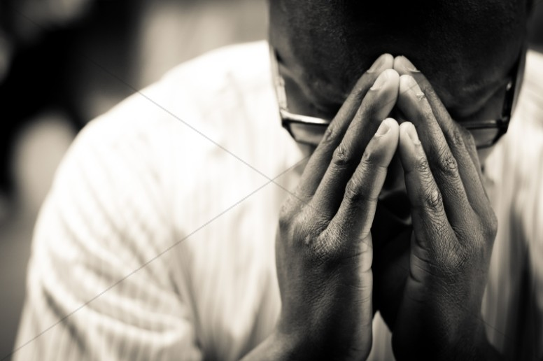Man In Prayer Christian Stock Photo