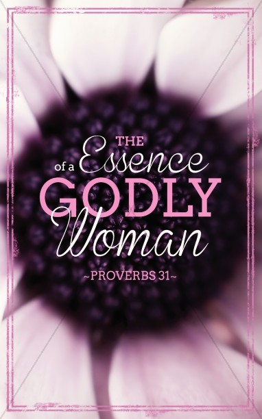 godly woman church bulletins