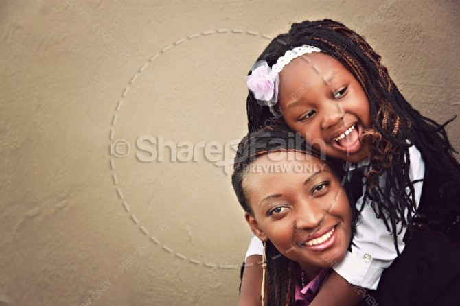 Daughter and Mother Hugging Religious Stock Photos