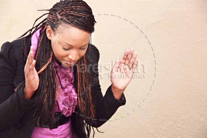 African American Woman Praying Christian Stock Photos