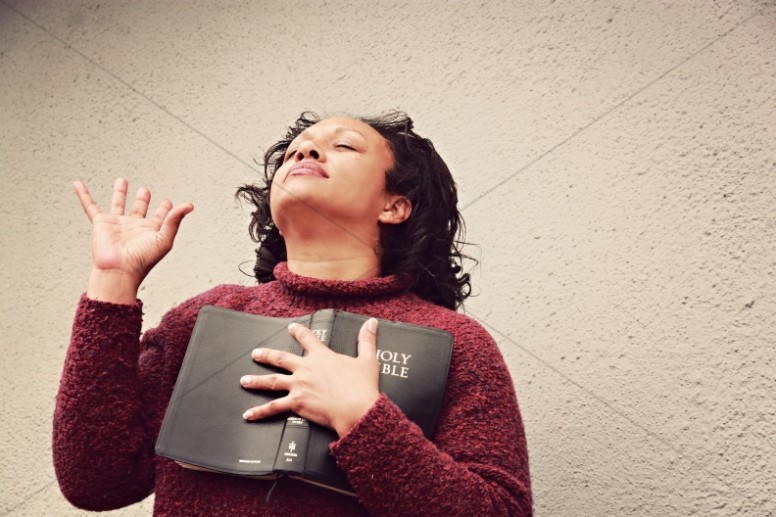 Woman of Faith Religious Stock Image