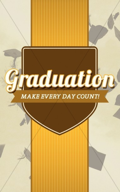 Graduation Program Cover Template Design  Secular Holiday