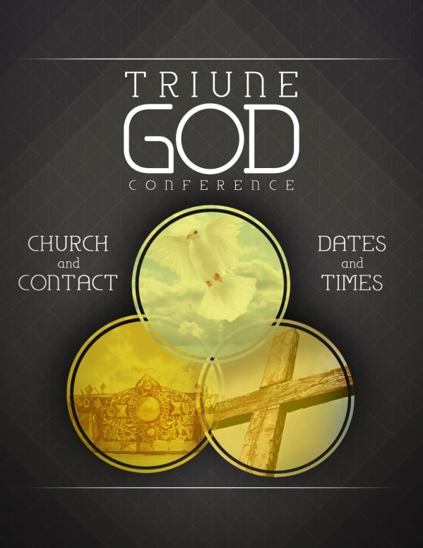 Trinity Sunday Flyer Template Church Flyers