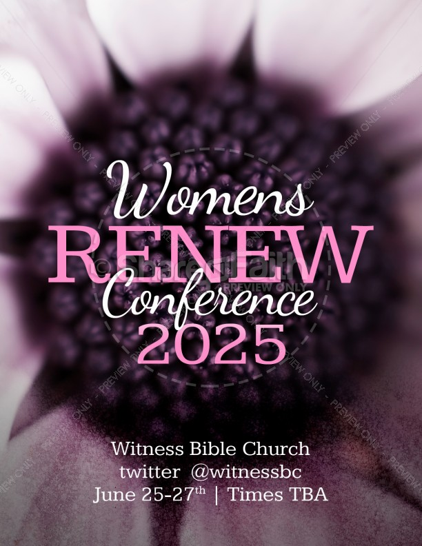 Annual Womens Conference Flyer Template