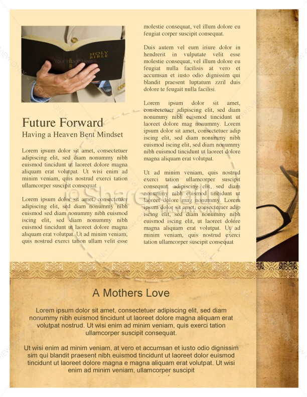 Bible Church Newsletter Template | page 3