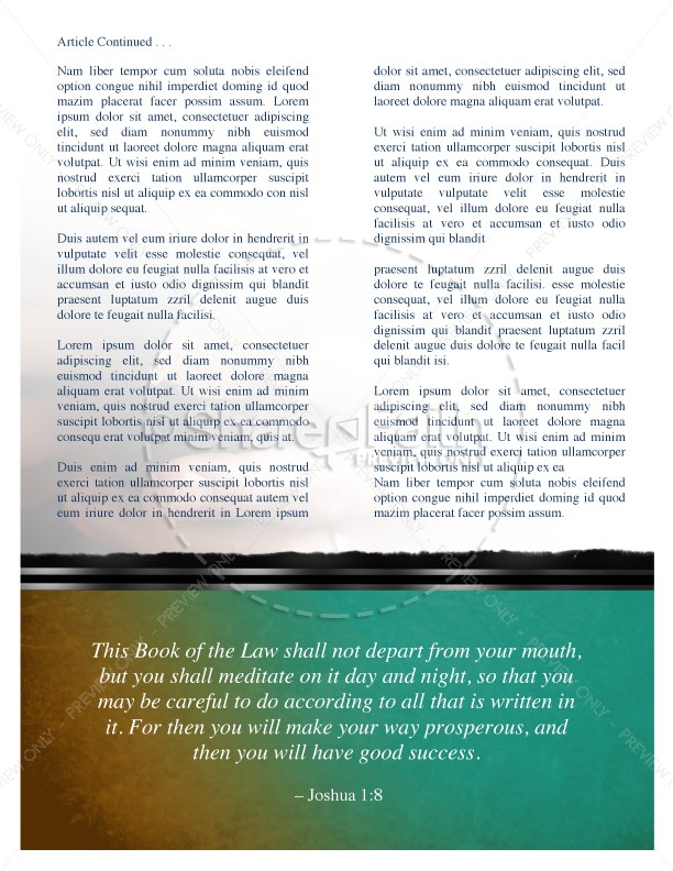 Baptist Newsletter Church Template | page 2