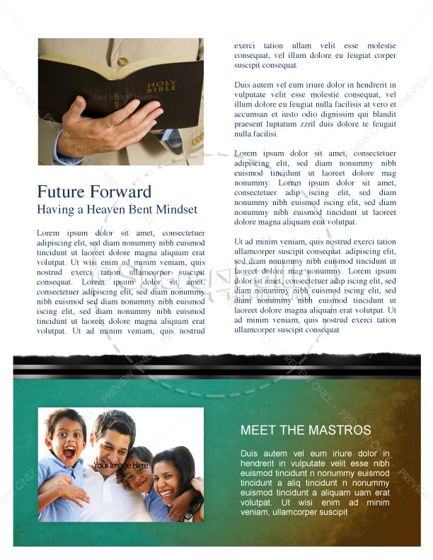 Baptist Newsletter Church Template | page 3