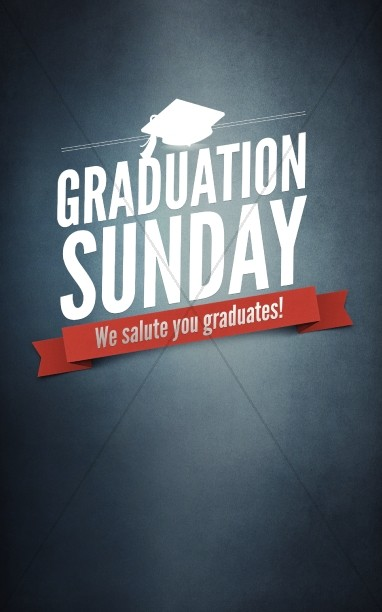 Graduation Sunday Program Cover Template