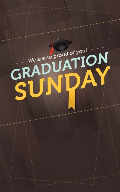 Graduation Sunday Program Cover Designs