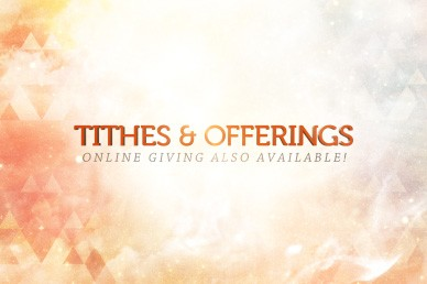 Tithes and Offerings With Online Giving Video Loop