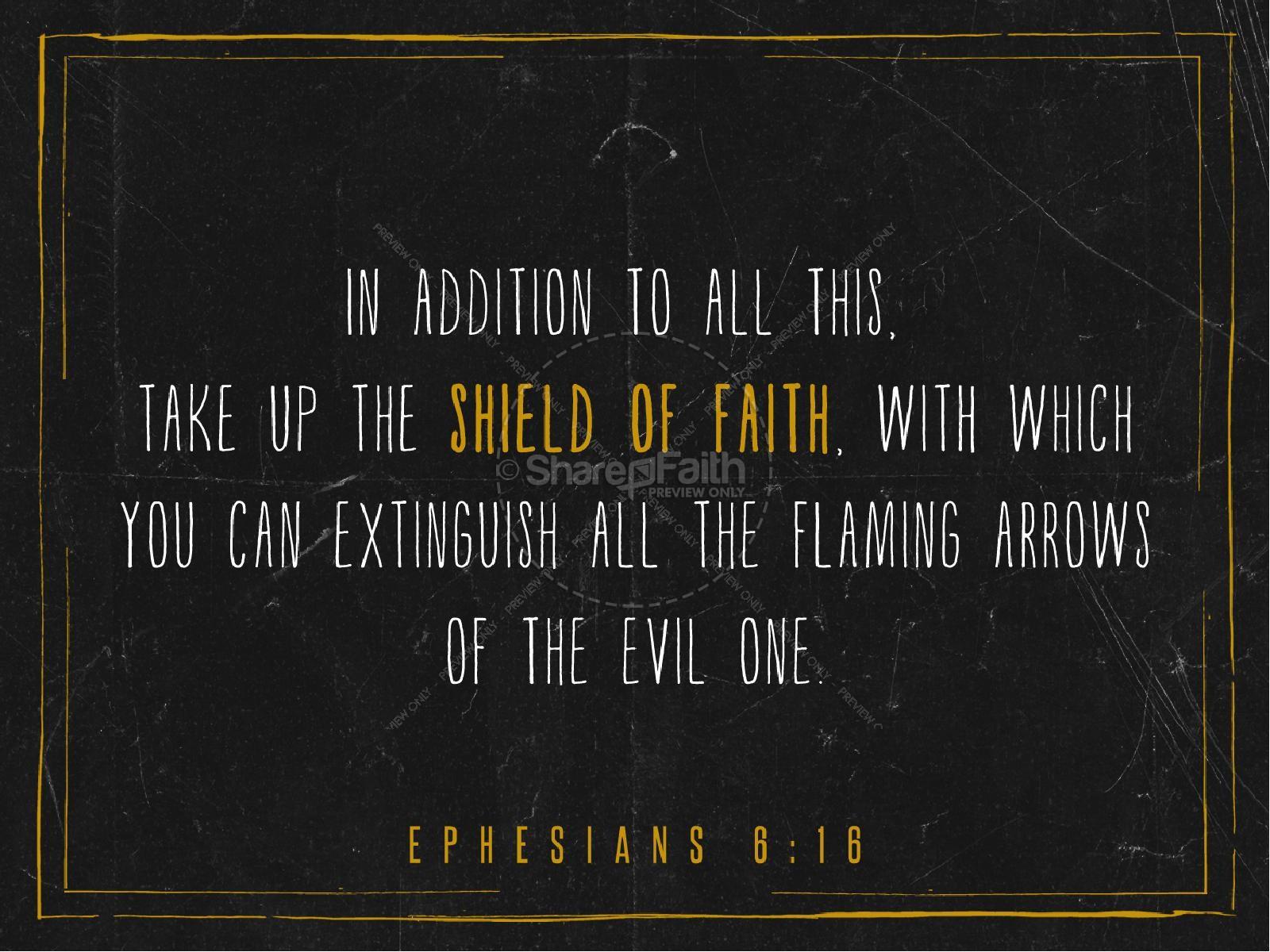 The Shield of Faith Sermon PowerPoint For Church | slide 4