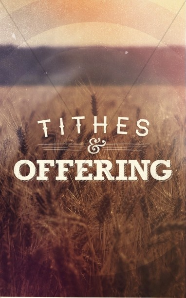 Tithes and Offering Church Bulletins