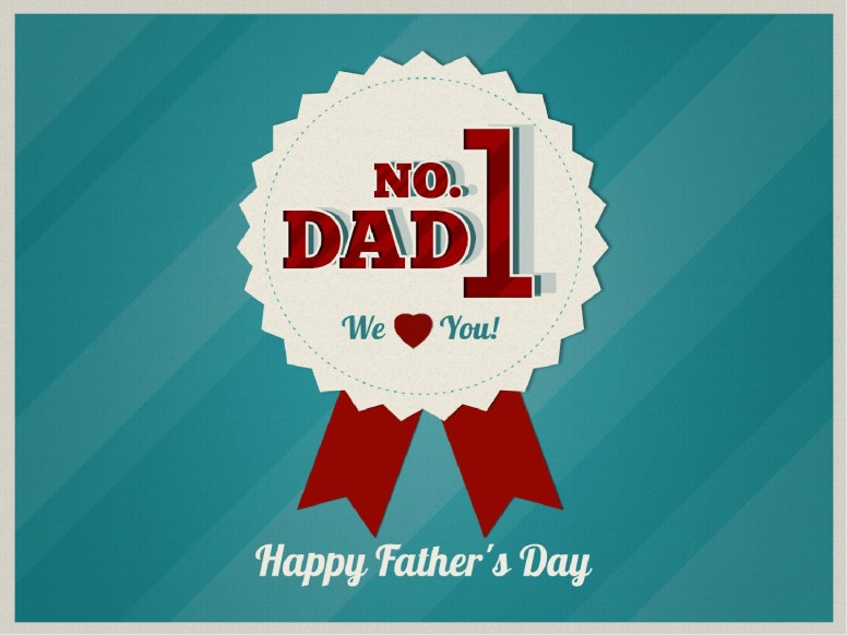 Fathers Day PowerPoint Template for church