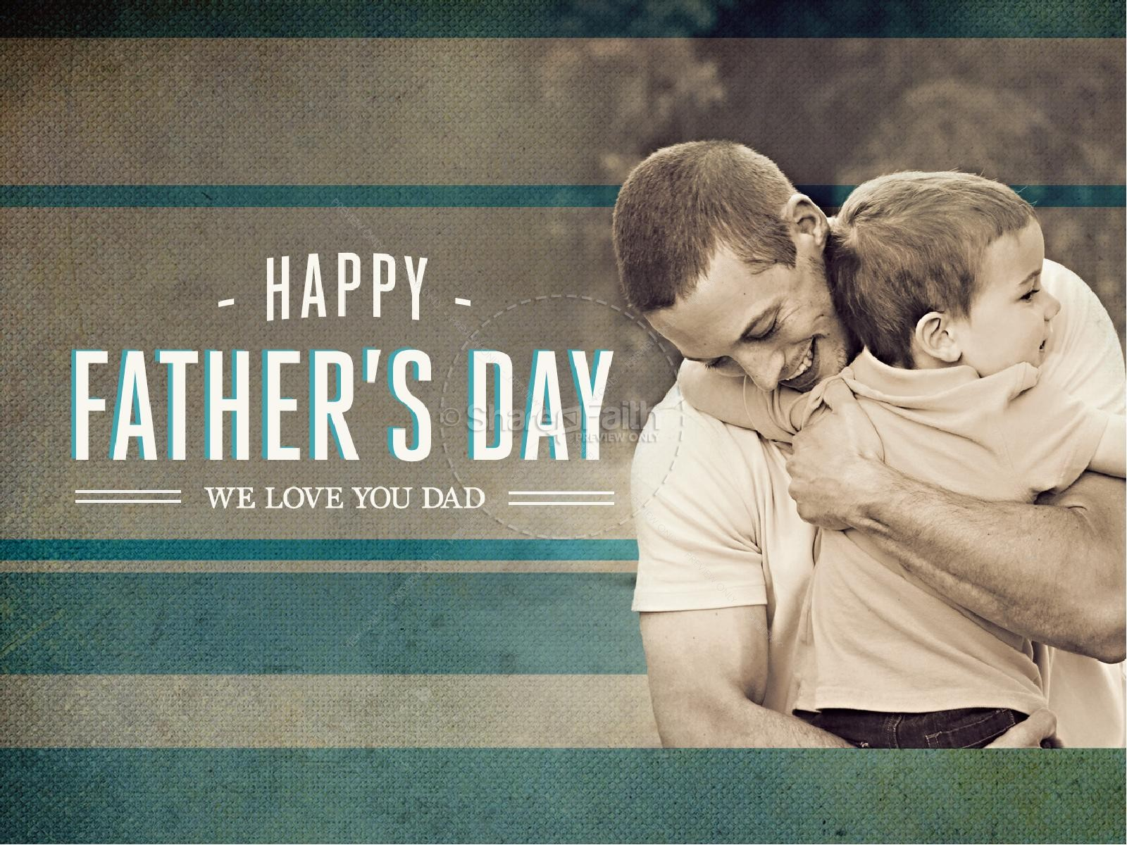 Fathers Day PowerPoint Sermon Church | slide 1