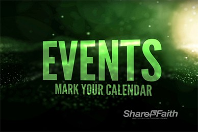 Stars Upcoming Events Video Loops Motion for Church