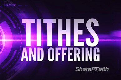 Electronic Tithes and Offering Video Loops Motions