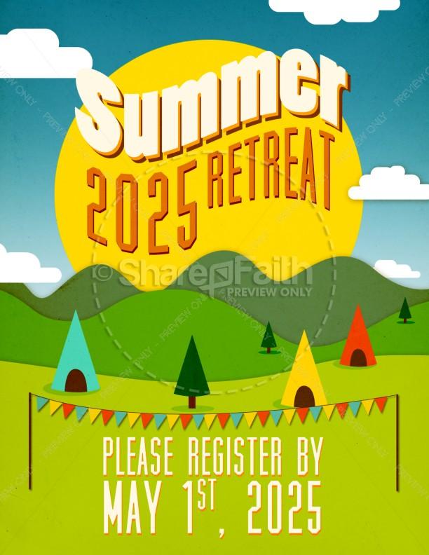 Summer Retreat Church Flyer