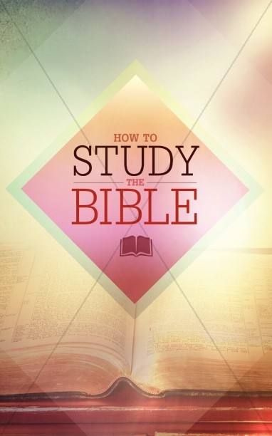 How to Study the Bible bulletin Cover Template