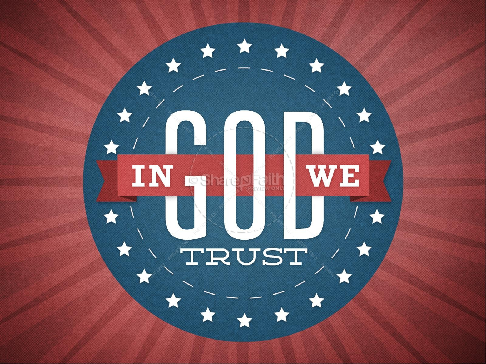 In God We Trust Graphics for Church