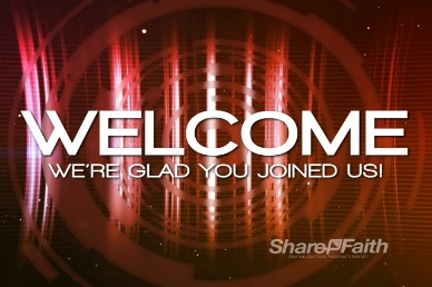 Red Modern Welcome Intro Video Loop