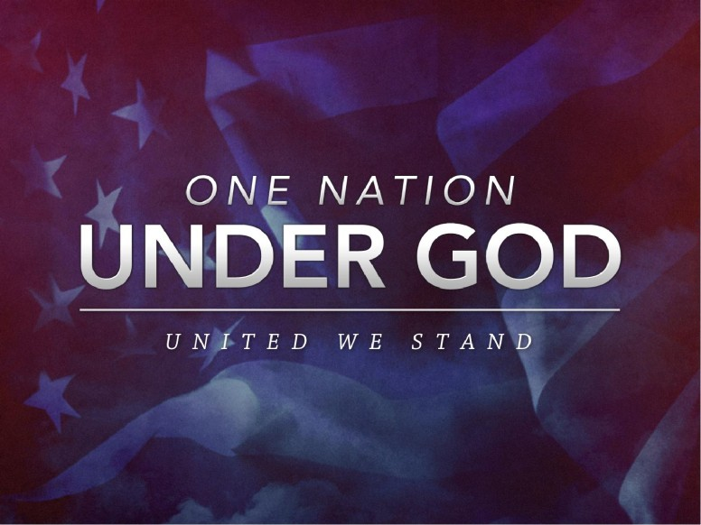 One Nation Under God United We Stand Church PowerPoint