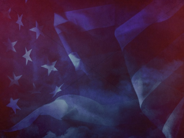 American Flag Worship Background Still