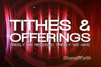 Red Tithes and Offerings Video Loop