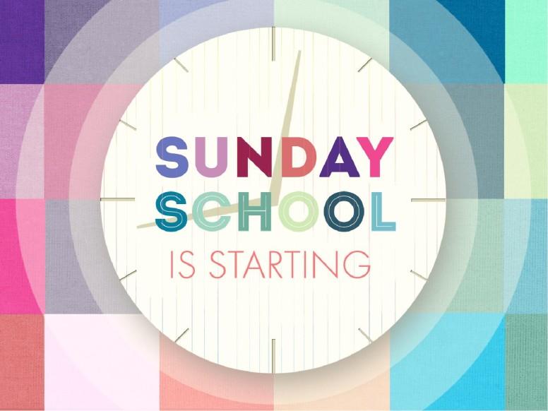 Sunday School Starting Graphics For Church