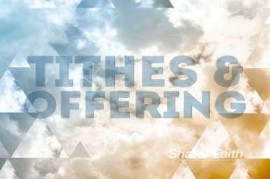 Tithes and Offering Motion Worhsip Loop