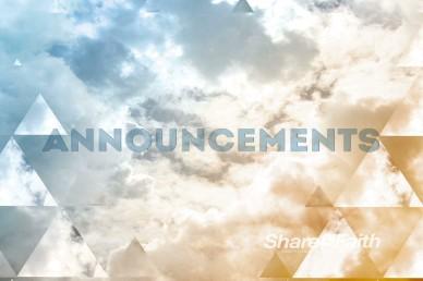Announcements Church Service Video Loops