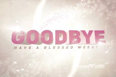Goodbye Ending Video Motion Worship Loop for Church