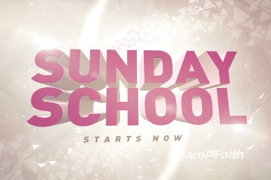 Sunday School Starts Now Video Loop for Church
