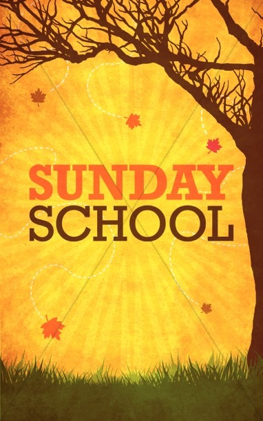 Fall Sunday School Bulletin Cover