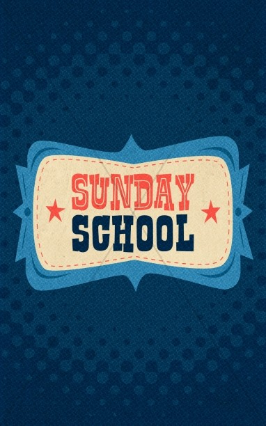 Retro Sunday School Bulletin Cover