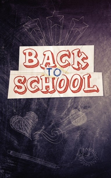 Back to School Blackboard Bulletin Cover