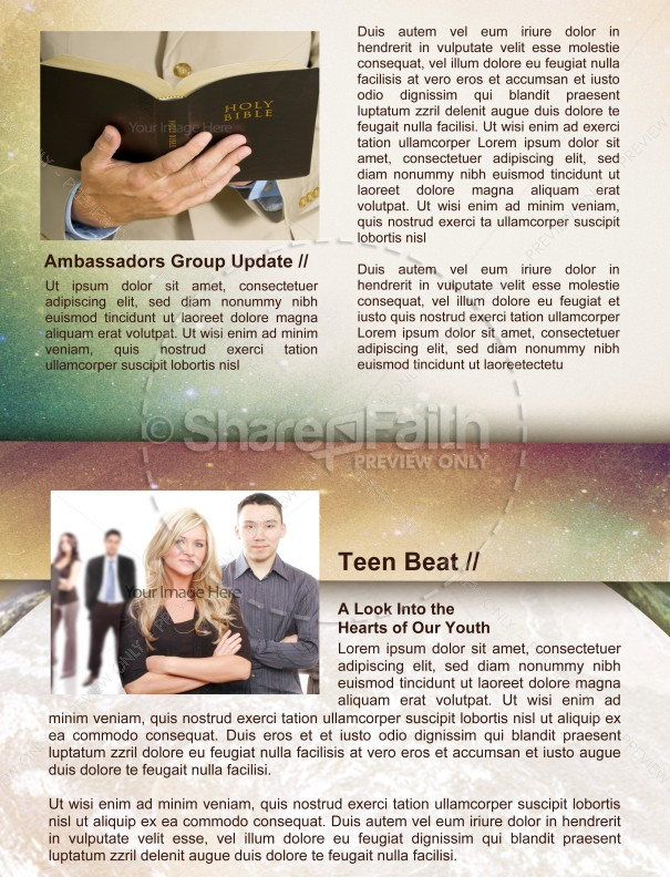 Moon and Stars Newsletter Template