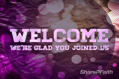 Glad Welcome Motion Loop