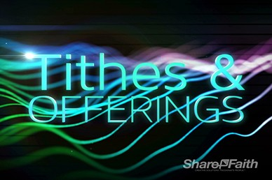 Light Waves Tithes and Offerings Motion Loop