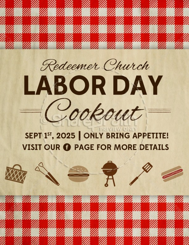 Labor Day Barbecue Flyer