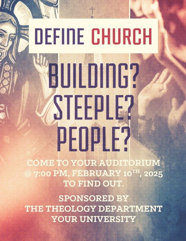 Define Church flyer