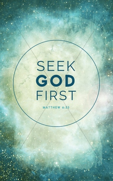 Seek The Kingdom of God First Bulletin Cover