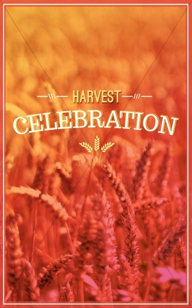 Harvest Celebration Church Program Cover  Harvest Fall Church