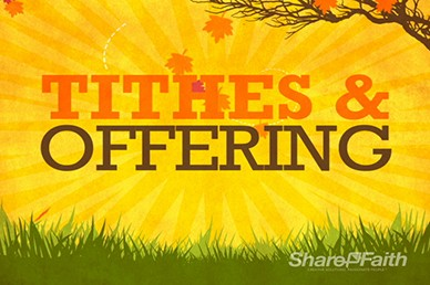 Tithes and Offerings Fall Video Motion Loop