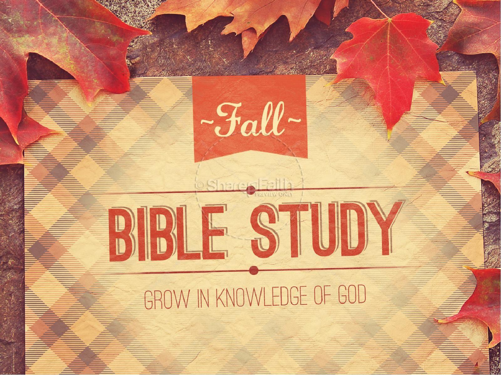 Fall Bible Study Church PowerPoint  | slide 1