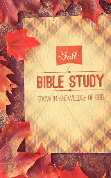 Fall Bible Study Church Bulletin Cover