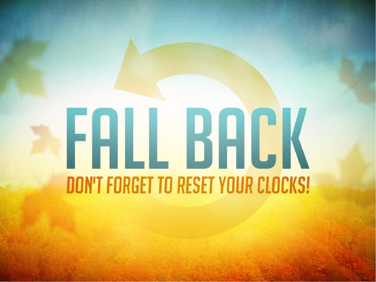 Fall Back Time Change PowerPoint
