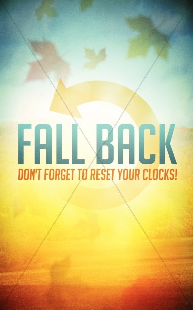 Fall Back Time Change Church Bulletin Cover