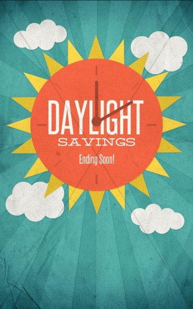 Daylight Savings Time Ending Church Bulletin
