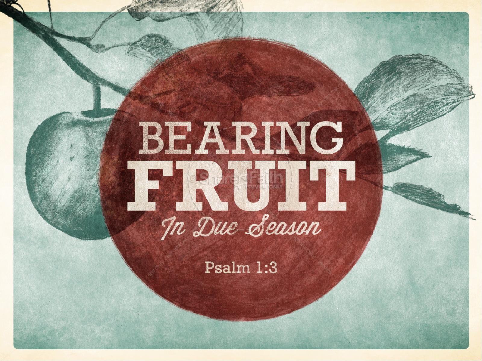 Bearing Fruit PowerPoint Sermon Slides | slide 1